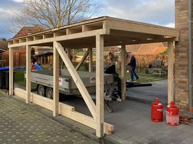 Bau eines Carports