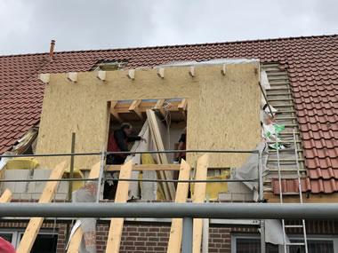 Bau einer Dachgaube